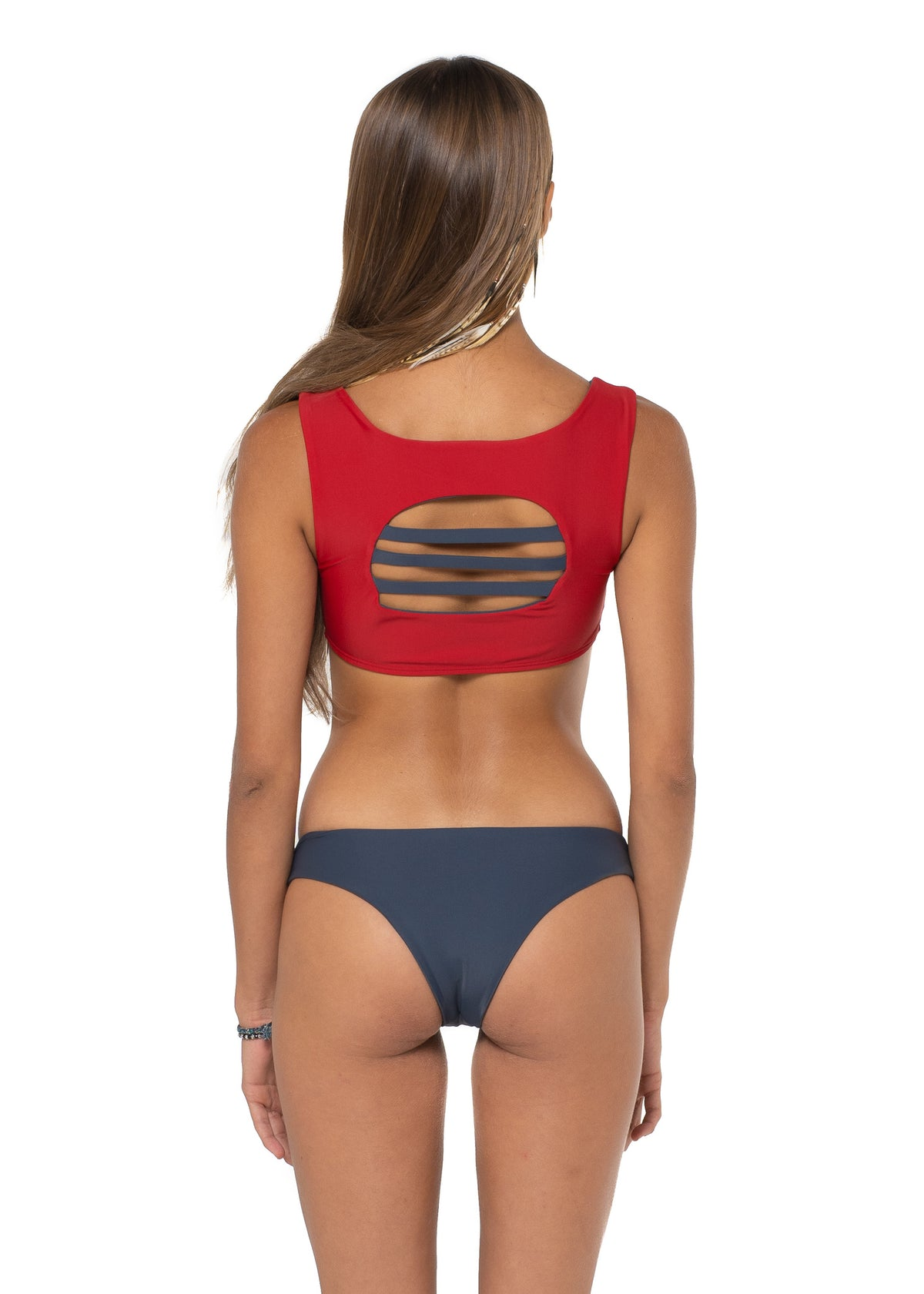 Uluwatu Crop Top Red Back