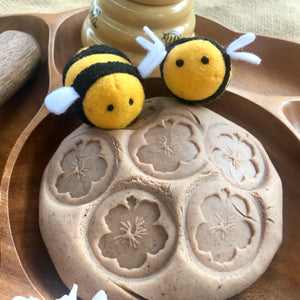 Bee Playdough Stamps