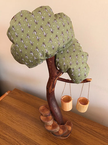 Wood and Fabric Play Tree - Multi-Seasonal Extra Large