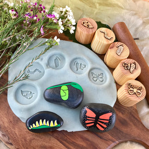 Butterfly Lifecycle Playdough Stamps
