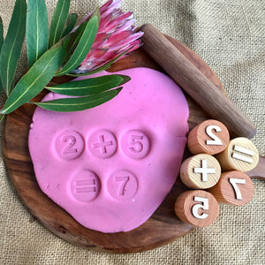 Numbers & Symbols Playdough Stamps