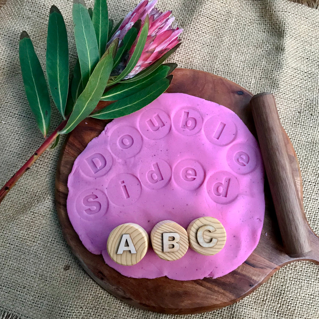 Alphabet Playdough Stamps