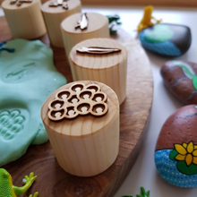 Load image into Gallery viewer, Frog Lifecycle Playdough Stamps