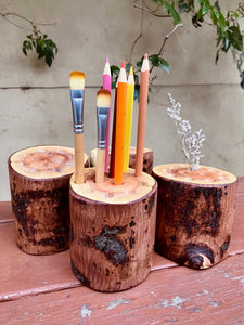 Rustic Pencil Holder - 12 hole