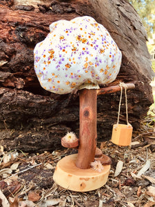 Wood and Fabric Play Tree - Spring/Autumn Large