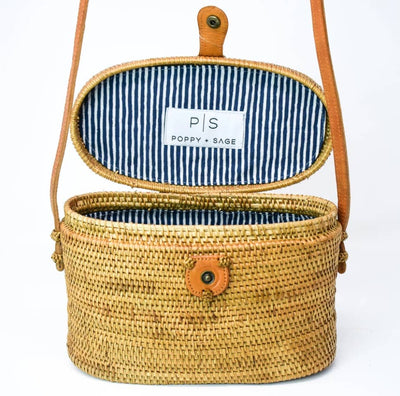 Luna Bag Nantucket Navy Stripe - Horse Country Trading Company