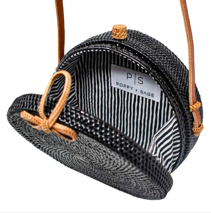 Iris Bowtie Bag Black Stripe - Horse Country Trading Company