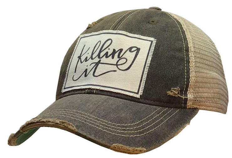 Killing It Distressed Trucker Cap Black - Horse Country Trading Company