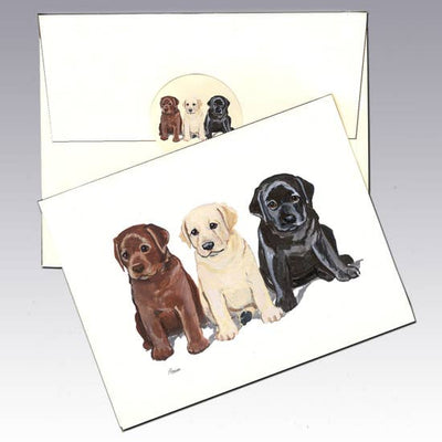 Labrador Puppy Note Cards - Horse Country Trading Company