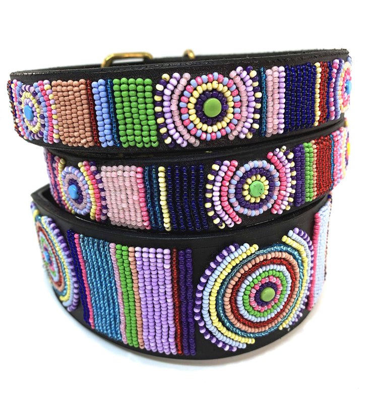 """Posey"" Beaded Dog Collar - Horse Country Trading Company"