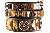 """Earth"" Beaded Dog Collar - Horse Country Trading Company"