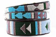 """Jacaranda"" Beaded Dog Collar - Horse Country Trading Company"