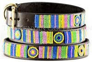 """Meadow"" Beaded Dog Collar - Horse Country Trading Company"