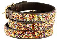 """Confetti"" Beaded Dog Collar - Horse Country Trading Company"