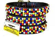 """Confetti"" Flat Czech Beaded Dog Collar - Horse Country Trading Company"