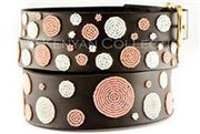 """Dots Pink"" Beaded Dog Collar - Horse Country Trading Company"