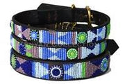 """Passion Flower"" Beaded Dog Collar - Horse Country Trading Company"