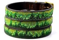 """Rainforest"" Beaded Dog Collar - Horse Country Trading Company"