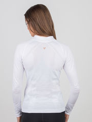 Anique Quarter Zip Pure White - Horse Country Trading Company