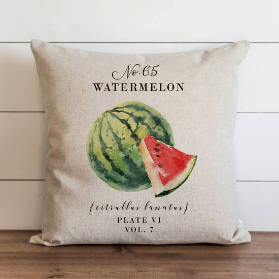 Watermelon Botanical Pillow - Horse Country Trading Company