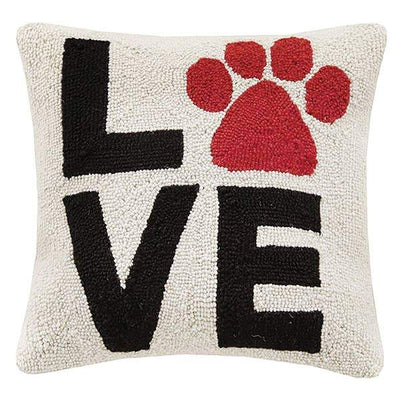 Love Paw Print Hook Pillow - Horse Country Trading Company