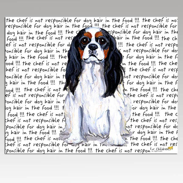 Cavalier King Charles Spaniel Tri Color Cutting Board - Horse Country Trading Company