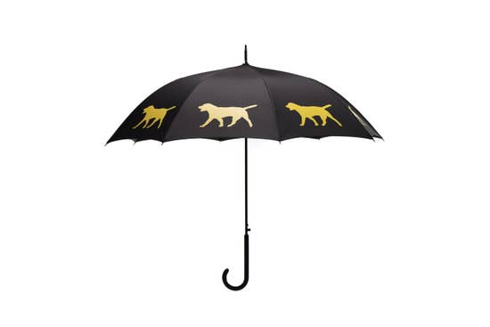 "Yellow Labrador Retriever 34.5"" Black Stick Umbrella - Horse Country Trading Company"