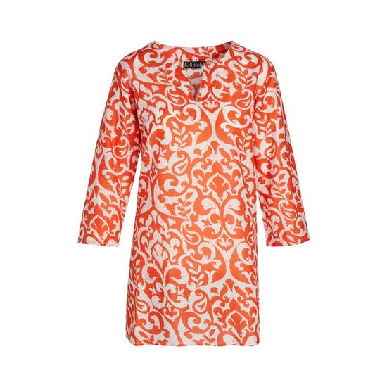 Orange Mykonos Tunic - Horse Country Trading Company
