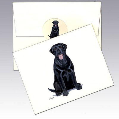Labrador Black Note Cards - Horse Country Trading Company