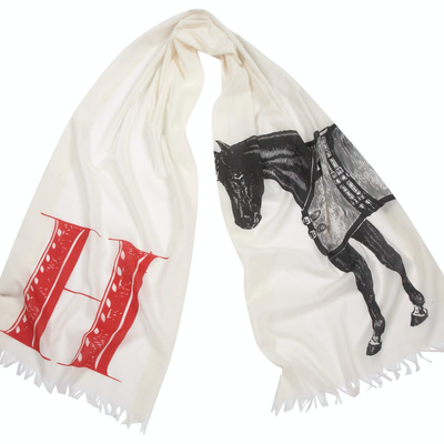 """H"" Horse Scarf - Horse Country Trading Company"