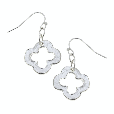 Silver Clover Earrings - Horse Country Trading Company