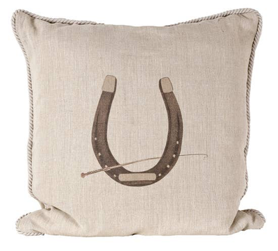 Horse Shoe Pillow - Horse Country Trading Company