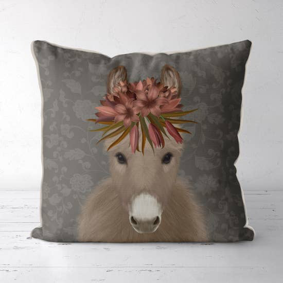 Donkey Farmhouse Pillow 18x18 - Horse Country Trading Company