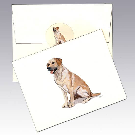 Labrador Yellow Note Cards - Horse Country Trading Company