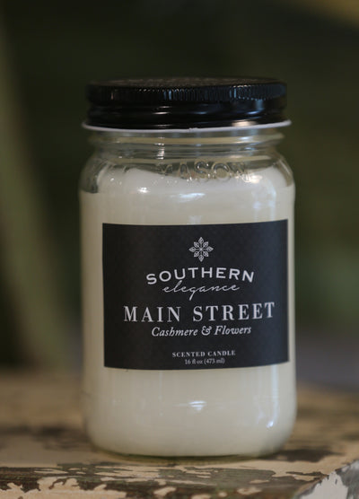 Mason Jar: Main Street * Cashmere & Flowers - Horse Country Trading Company