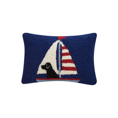 Labrador in Sailboat Hook Pillow - Horse Country Trading Company