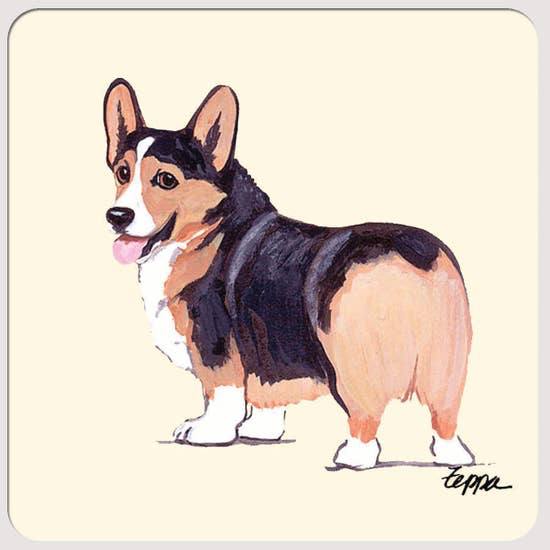Welsh Corgi Pembroke Tri Beverage Coasters - Horse Country Trading Company