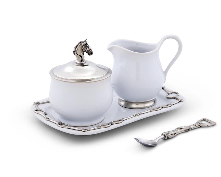 Equestrian Sugar and Creamer Set - Horse Country Trading Company