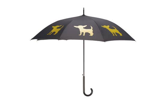 "Yellow Chihuahua 34.5"" Black Stick Umbrella - Horse Country Trading Company"