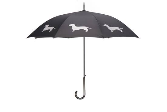 "White Dachshund 34.5"" Black Stick Umbrella - Horse Country Trading Company"