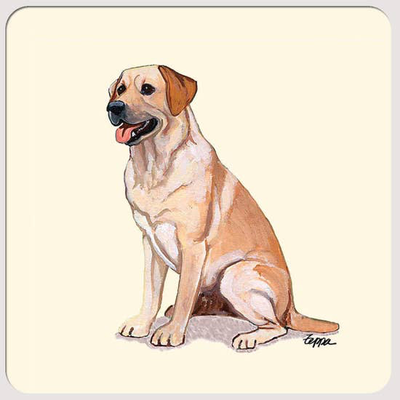 Labrador Yellow Beverage Coasters - Horse Country Trading Company