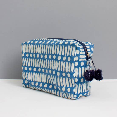 Dot Dash Washbag Cobalt Blue - Horse Country Trading Company