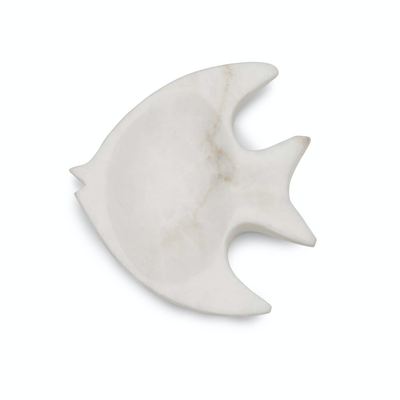 Angel Fish Alabaster Dish - Horse Country Trading Company