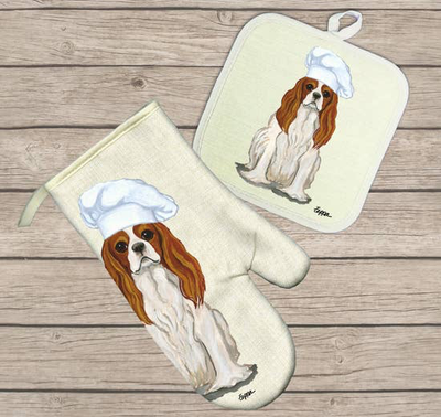 Cavalier King Charles Spaniel Blenheim Hot Paws Pot Holder - Horse Country Trading Company
