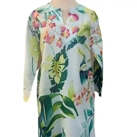White and Green Leaf Tunic - Horse Country Trading Company