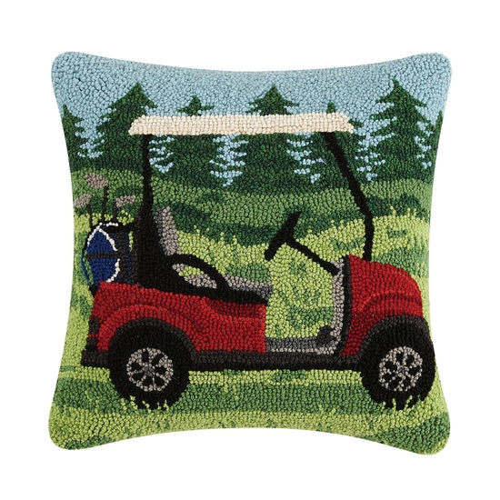 Golf Cart Hook Pillow - Horse Country Trading Company