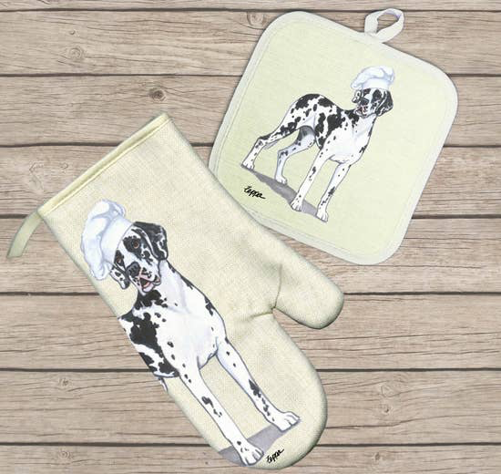 Great Dane with Natural Ears Hot Paws Oven Mitt - Horse Country Trading Company
