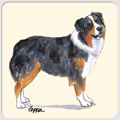 Australian Shepherd Beverage Coasters - Horse Country Trading Company