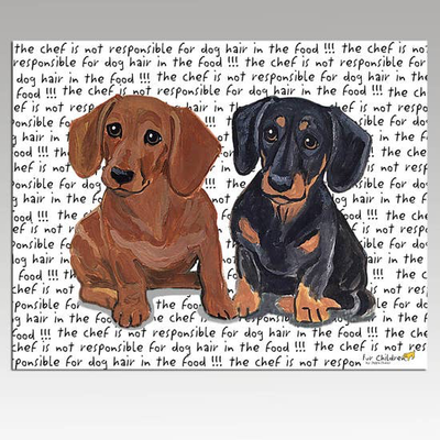 Dachshund Pair Cutting Board - Horse Country Trading Company