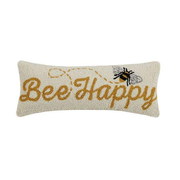 Bee Happy Hook Pillow - Horse Country Trading Company
